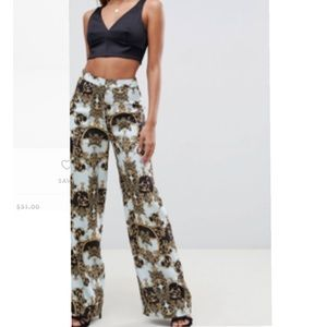 ASOS DESIGN tailored soft wide leg pants